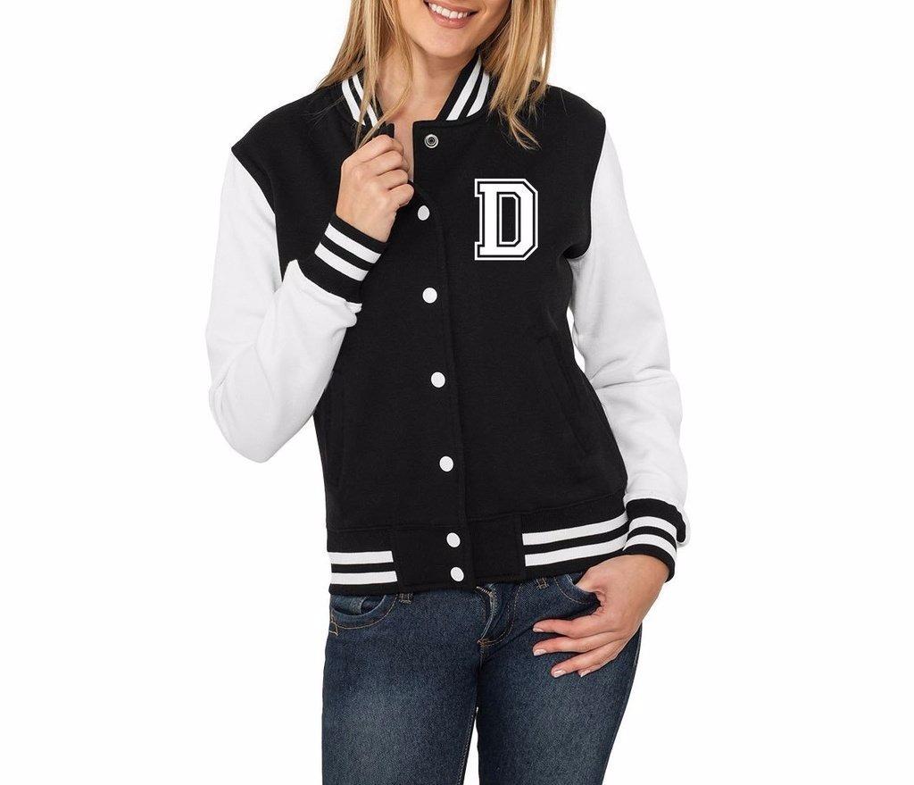 8c522c35d828 jaqueta college feminina letras iniciais nomes alfabeto de d. Carregando  zoom.