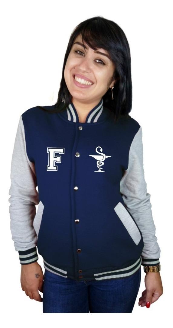 d233106e2b jaqueta college feminina universitária faculdade farmácia. Carregando zoom.