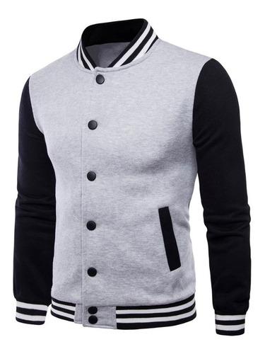 jaqueta college masculina moletom casaco colegial