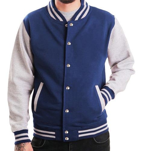jaqueta college masculina moletom colegial