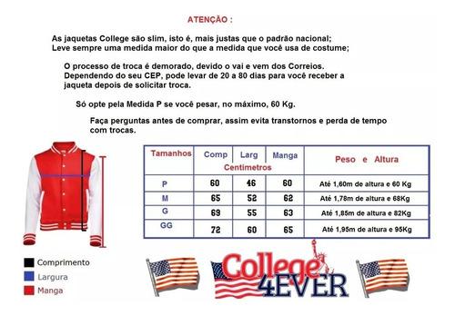 jaqueta college ny new york bordado capuz removível american