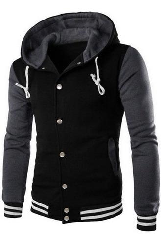 jaqueta college varsity letterman blusa capuz removível ny