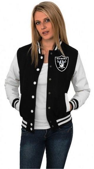 5b39b40b1 Jaqueta College Varsity Raiders Oakland Bordado Usa !! - R  134