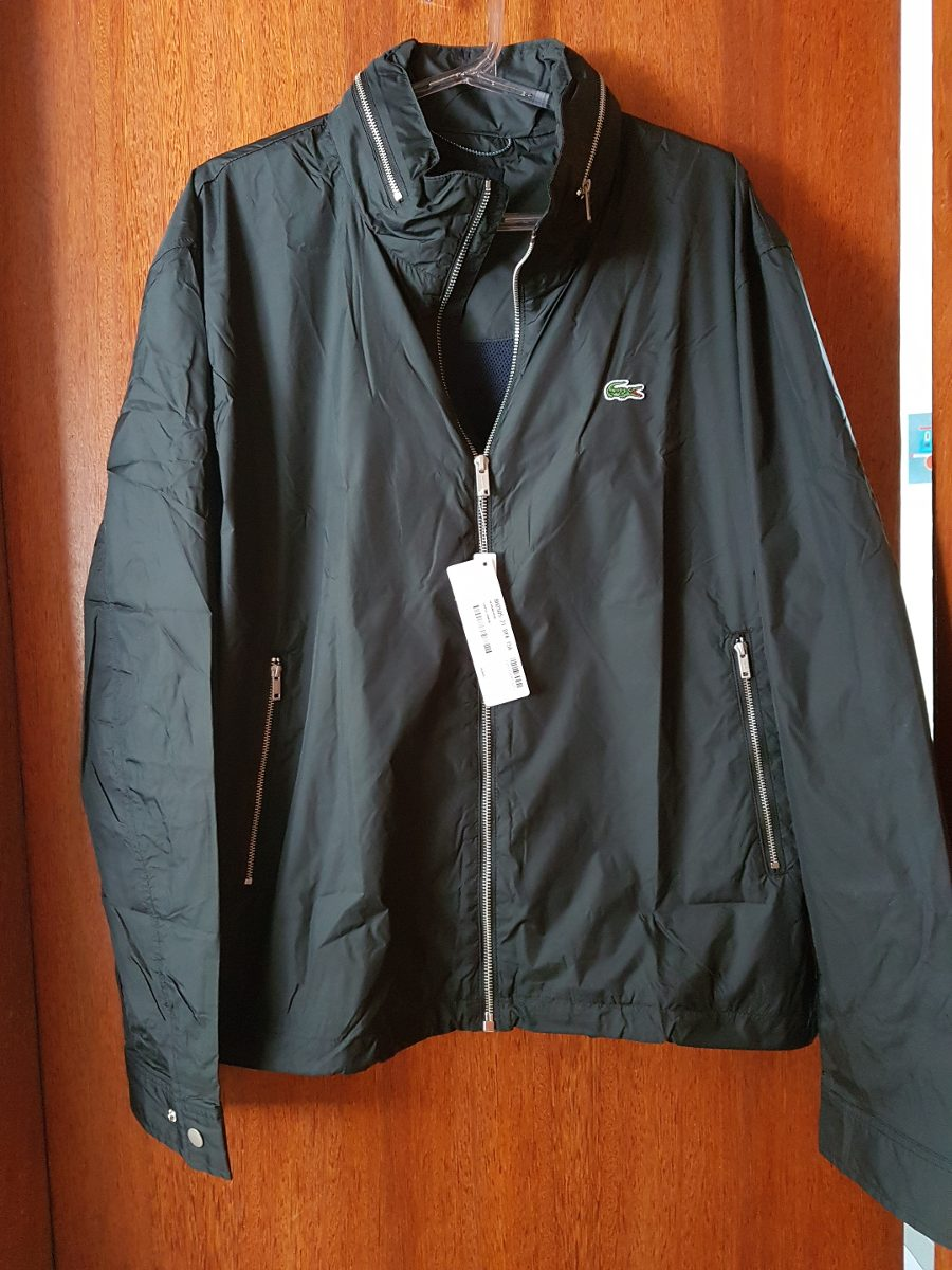 ... 403b2888c62 Jaqueta Com Capuz Lacoste Original Preta - R 899,00 em  Mercado Livre ... 94104b49f2