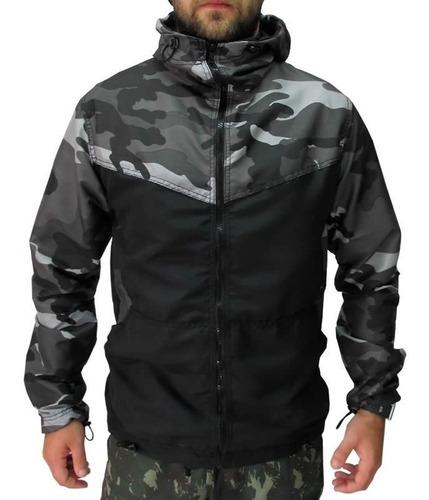 jaqueta corta vento - corta vento camuflado