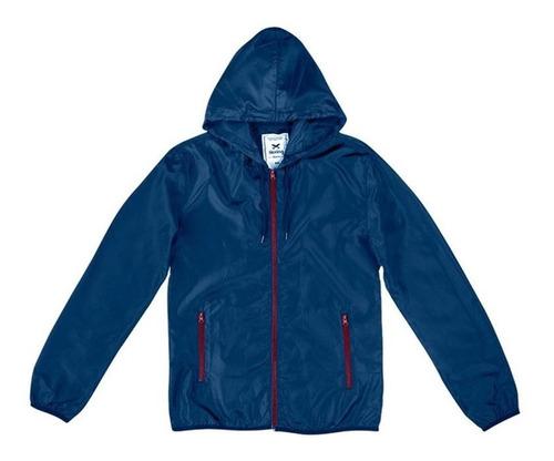 jaqueta corta vento hering azul