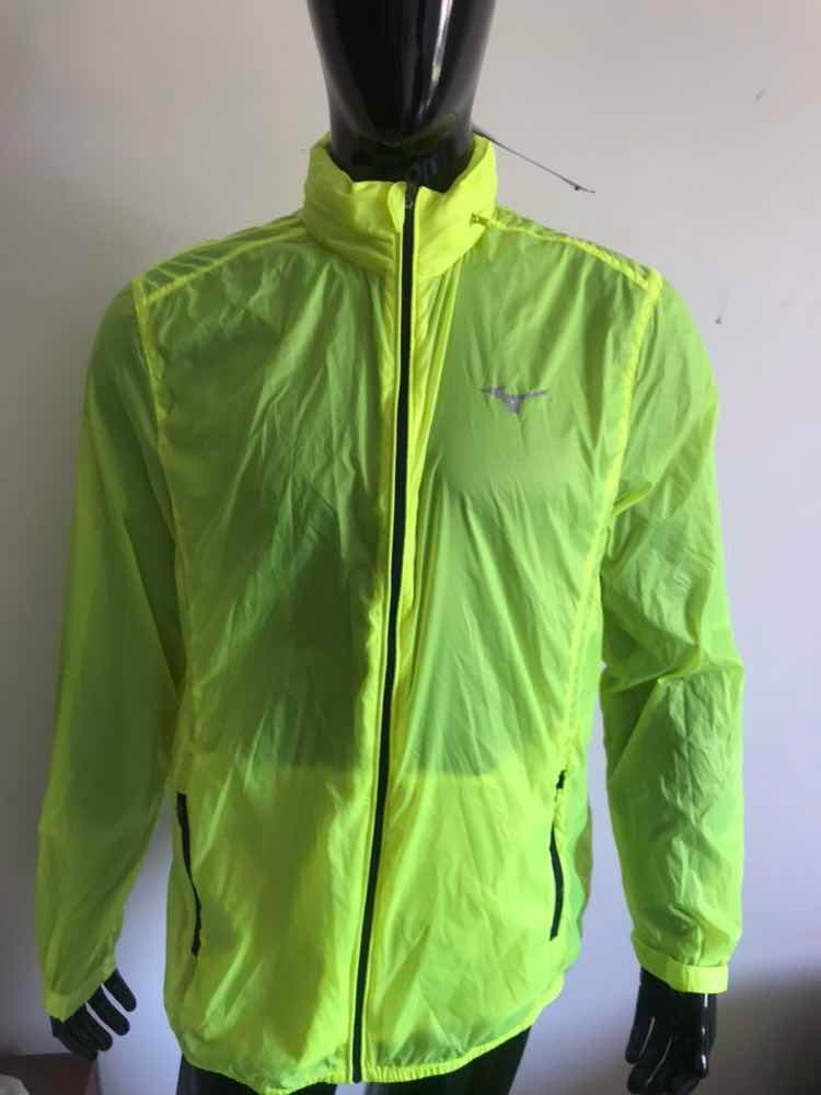 jaqueta corta vento run fast mizuno original com gorro bolso. Carregando  zoom. 98dabff6d1a3a