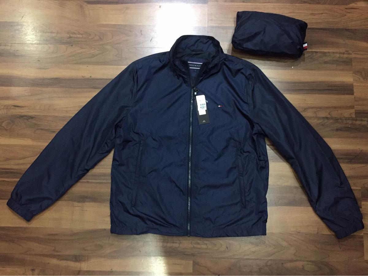 b48f54d4fab8c jaqueta corta vento tommy hilfiger azul original vira bolsa. Carregando  zoom.