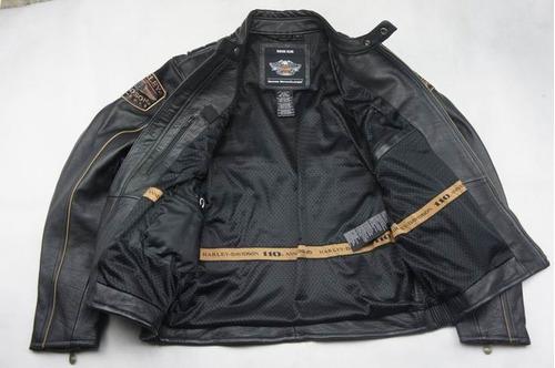 jaqueta couro harley davidson 110 - original pronta entrega!