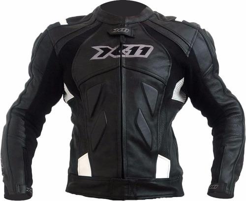 jaqueta couro moto speed x11 preta com cupim