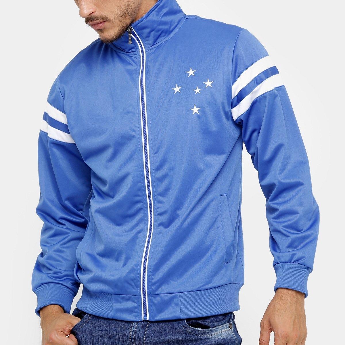 f95a26656dc7a jaqueta cruzeiro 100%original masculina - azul e branco. Carregando zoom.