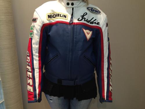jaqueta de couro dainese masculina tam. 50 ed. especial fred