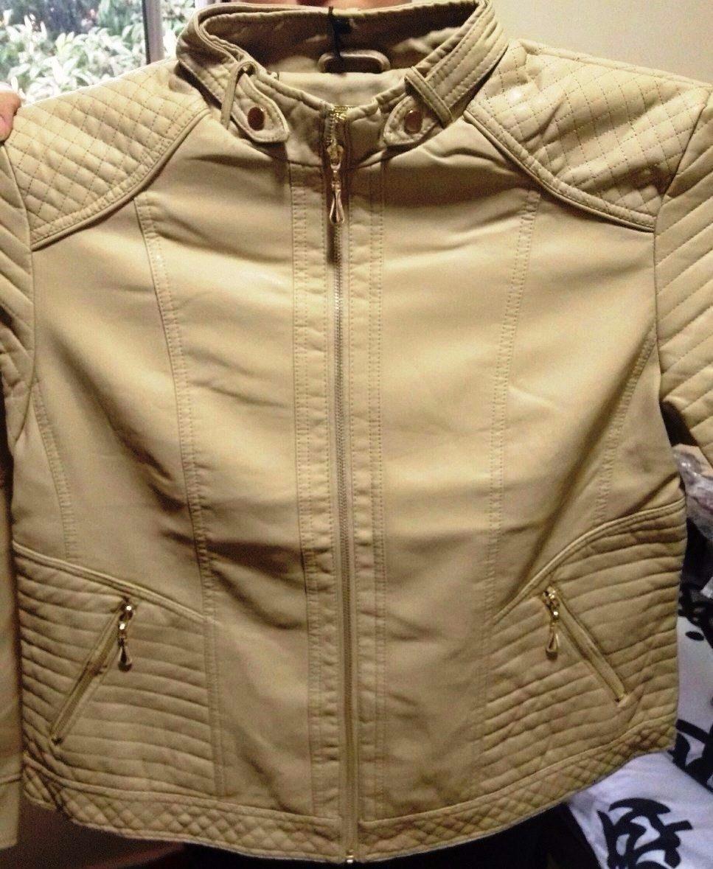 jaqueta de couro ecológico plus size feminina com gola e sem. Carregando  zoom. a587054c2a6