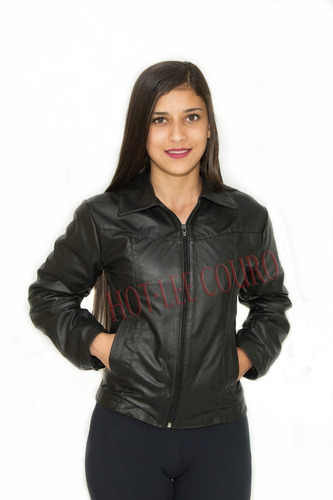 jaqueta de couro feminina 100% couro legítimo original