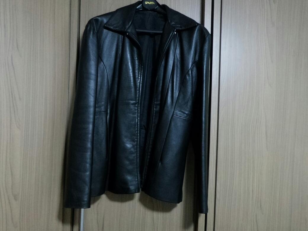 e0c0e5a0331 jaqueta de couro - feminina julian marcuir tam m. Carregando zoom.
