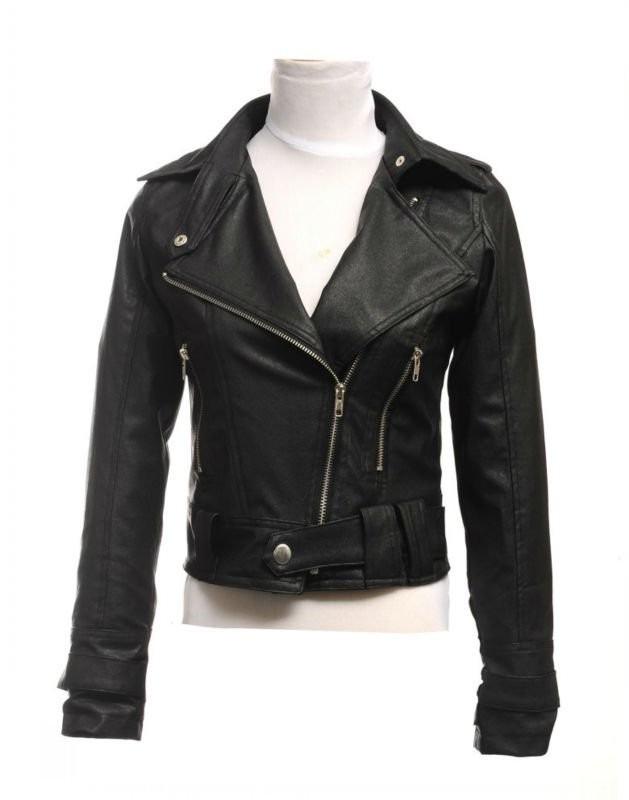 jaqueta de couro feminina - preta ou rosa. Carregando zoom. 7bab488ce33