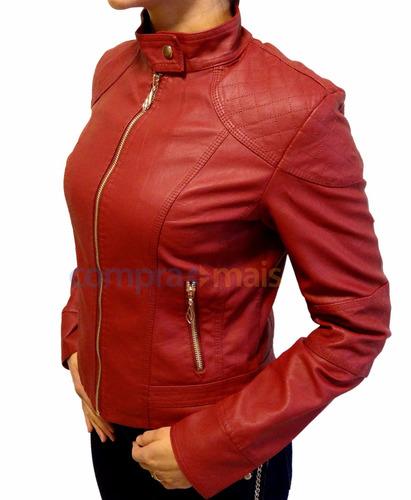 jaqueta de couro feminina pu importada frete grátis brasil