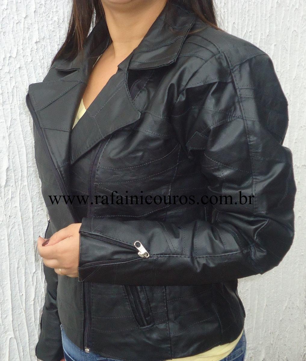 d1ad72d0e jaqueta de couro legitimo feminina em retalhos casaco couro. Carregando  zoom.