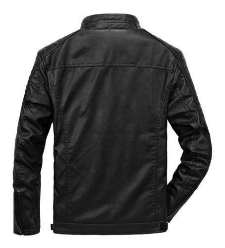 jaqueta de couro masculina slim  promoção