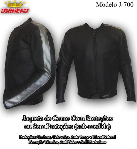 jaqueta de couro para motociclista -sob medida