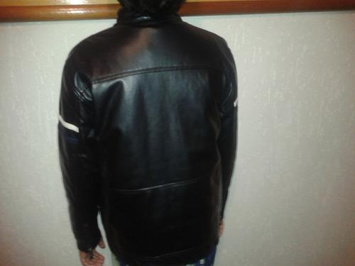 jaqueta de couro pu tamanho 12 preta frete grátis