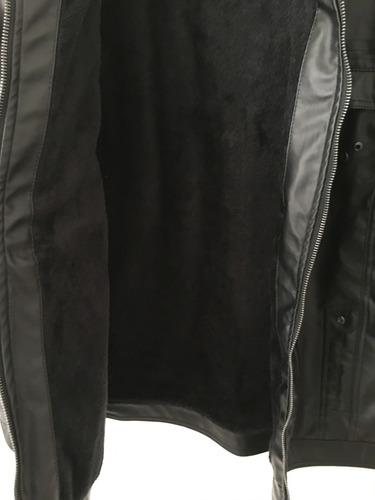 jaqueta de couro sintético
