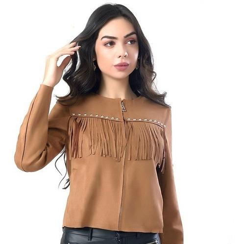 jaqueta de franja moda feminina miss yes ae-1360