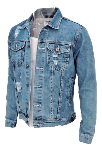 jaqueta de frio offert casaco masculino jeans slim fit