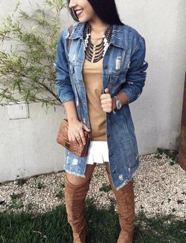 jaqueta desfiada jeans fashion descolada moda tendencia luxo