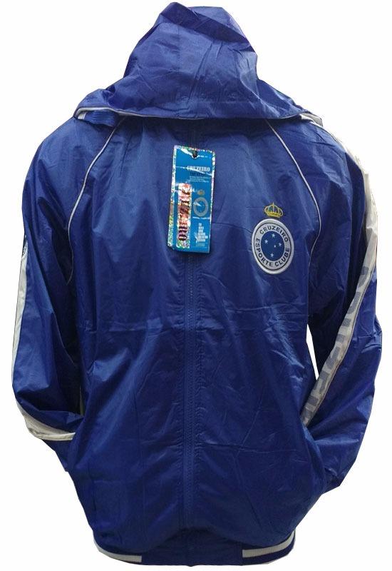 3ef5d8e9eab59 Jaqueta Dupla Face Impermeável Cruzeiro Azul E Branco - R  139