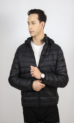 jaqueta em poliéster gg com capuz