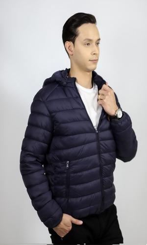 jaqueta em poliéster m com capuz