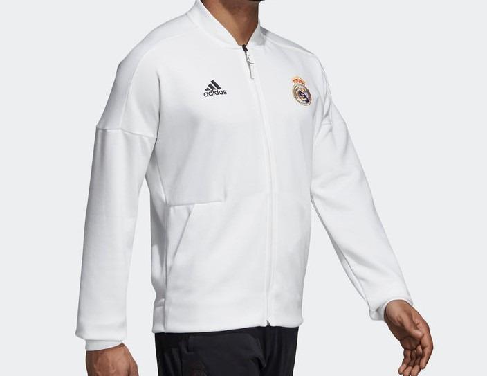 Jaqueta Esportiva adidas Zne Real Madrid Branca - R  369 4ea230deb4129