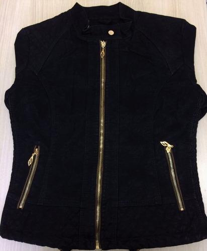 jaqueta feminina casaco curto tendencia camurça anitta lm-64