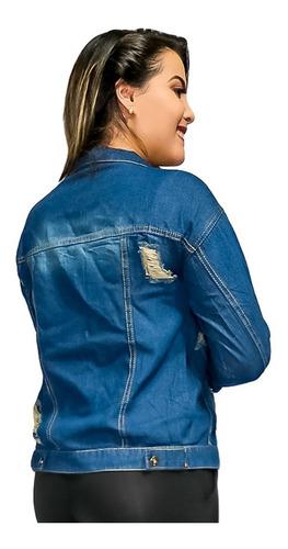 jaqueta feminina colarinho manga longa e botões. ref: 733