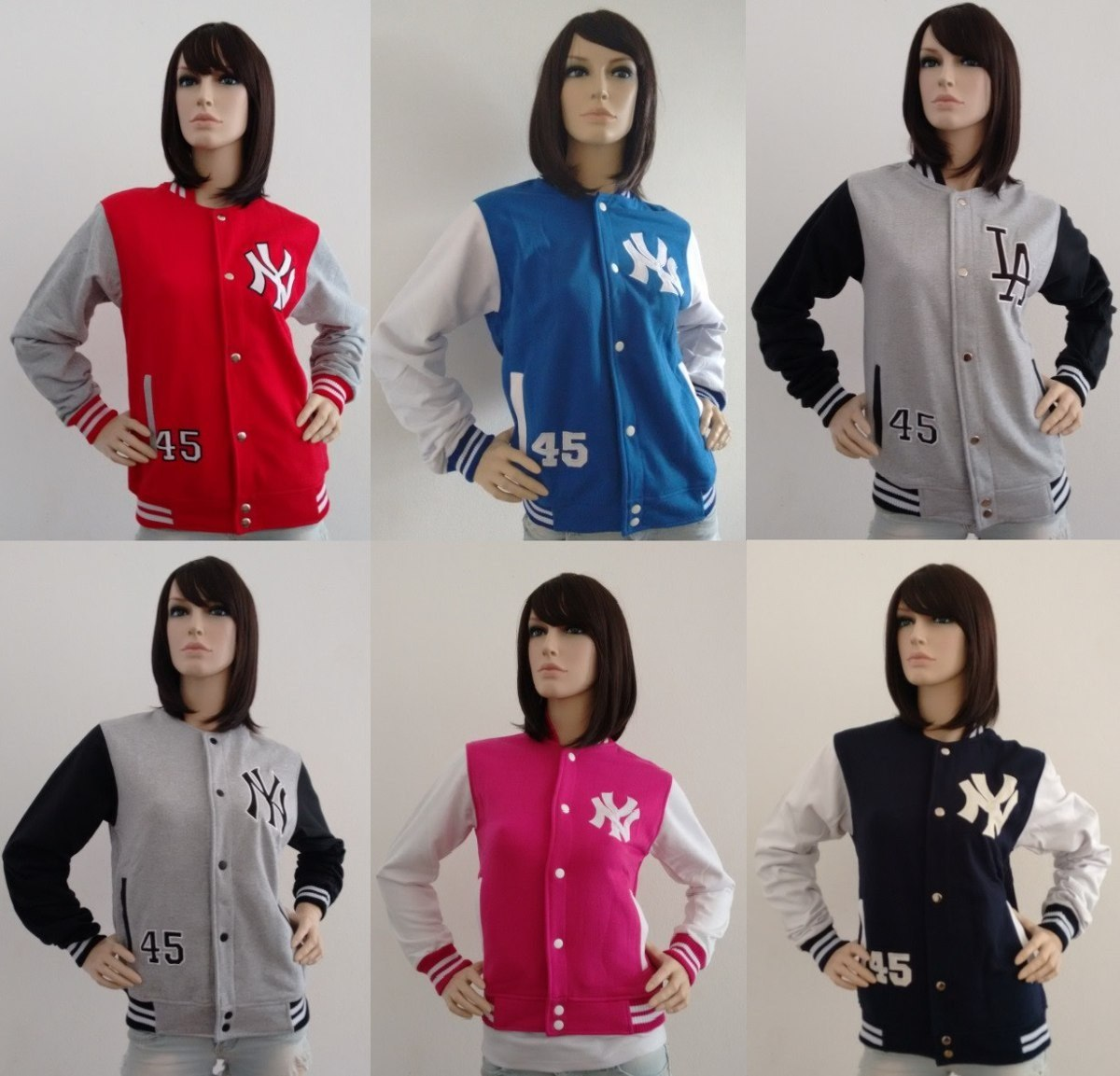 Jaqueta Feminina College Moletom Baseball - R  149 38c0b48ca36a6