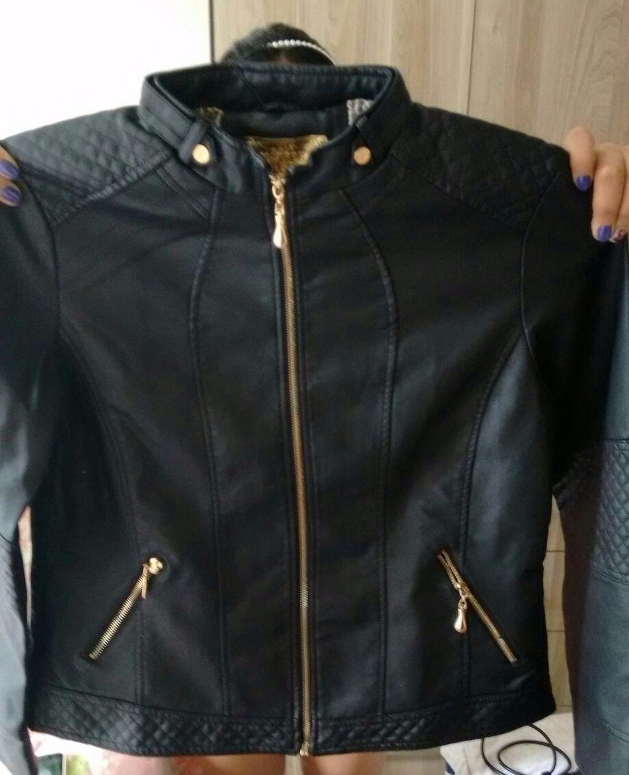 jaqueta feminina de couro ecológico p m g gg e plus size. Carregando zoom. bdbeaed575a