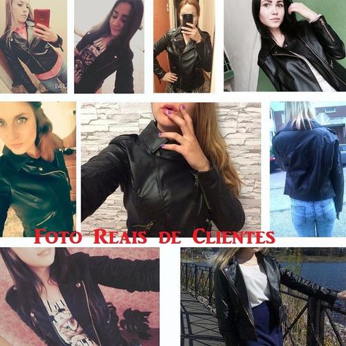 jaqueta feminina de couro grife fashion ny- pronta entrega -