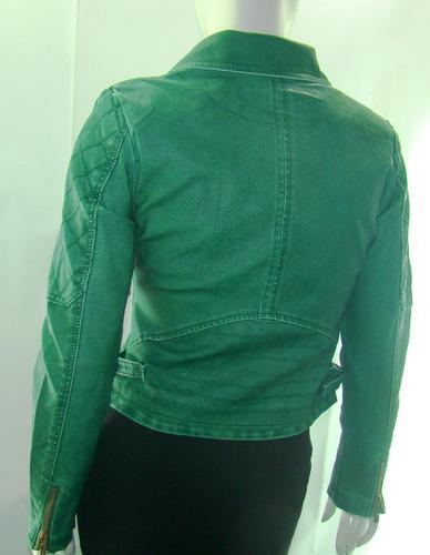 jaqueta feminina de couro pu (sintético) casaco