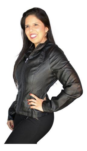 jaqueta feminina facinelli original couro pu lançamento