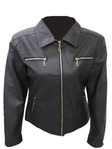 jaqueta feminina plus size couro ecológico - pronta entrega