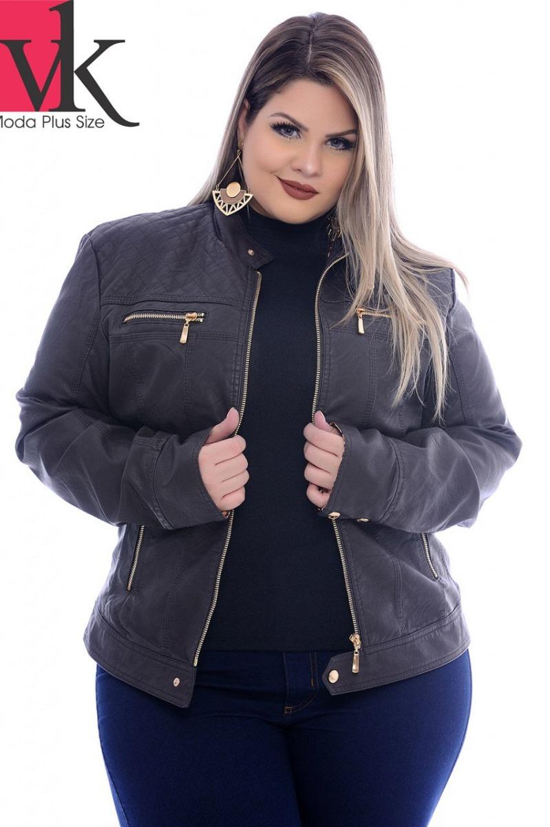 f064a1560be jaqueta feminina plus size - vk moda plus size. Carregando zoom.