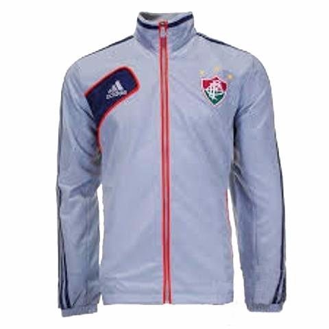 37bbe81f6d Jaqueta Fluminense Treino Cinza Zipper adidas - R  179
