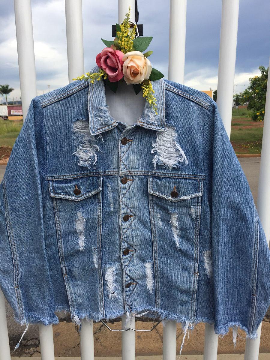 fb48d3612 Jaqueta Jeans Destroyed - R$ 79,00 em Mercado Livre