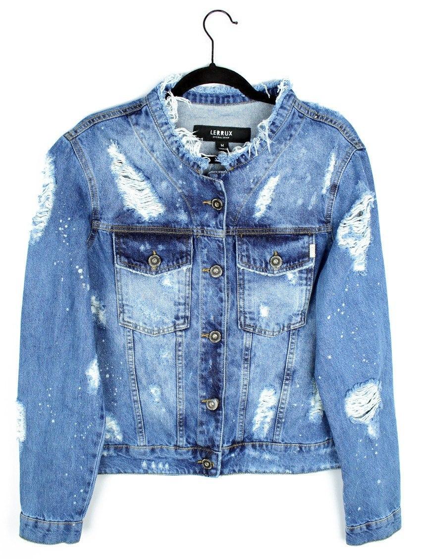 3f334be0b Jaqueta Jeans Destroyed Lerrux - Jaqueta Jeans Rasgada - R$ 245,00 ...