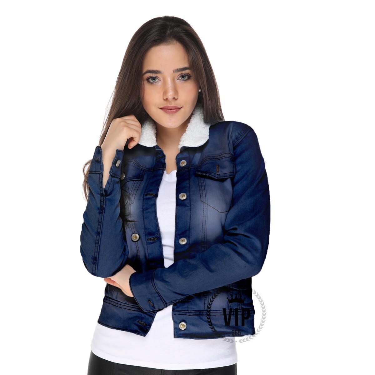d77be5018d60 jaqueta jeans feminina com forro escura blogueira fashion. Carregando zoom.