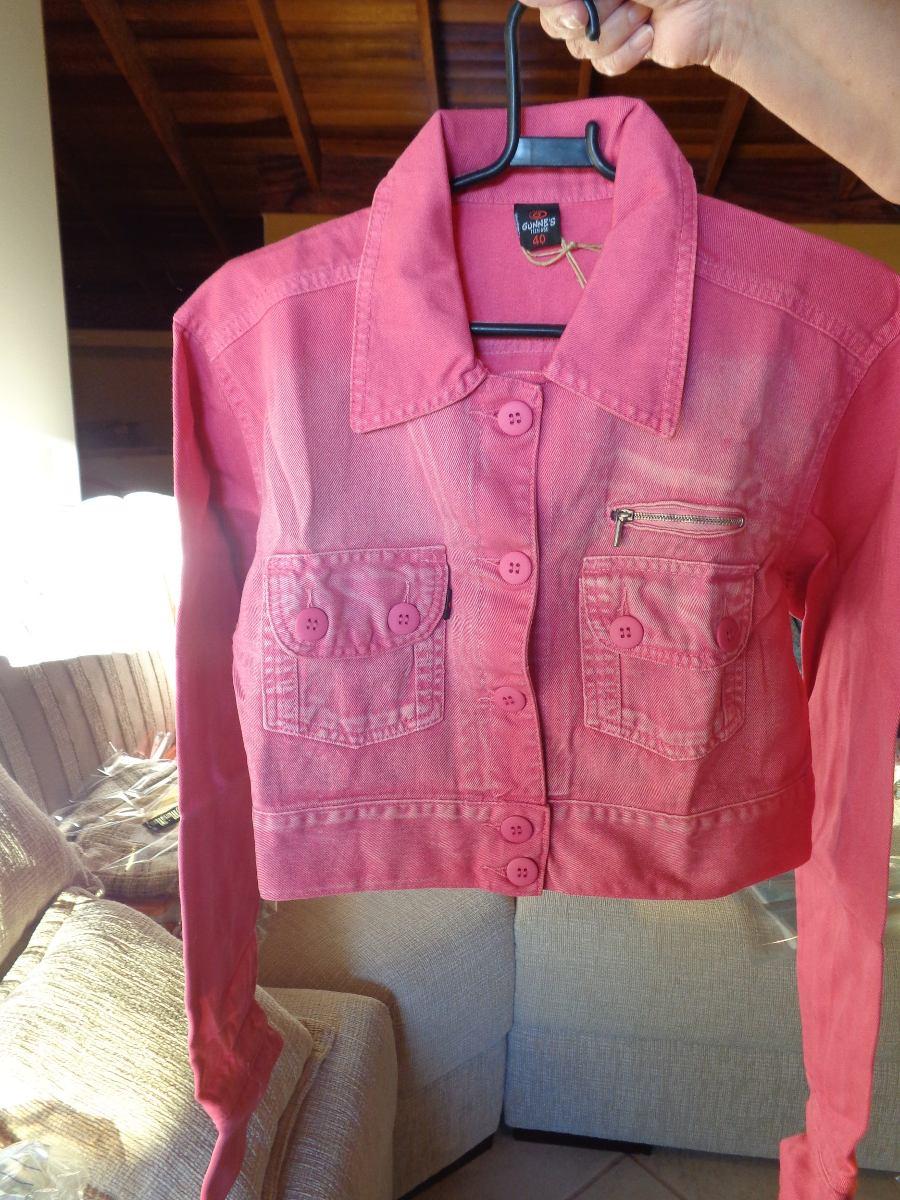68346ce0f8 Jaqueta Jeans Feminina, Jaqueta Jeans Rosa Feminina - R$ 49,90 em ...