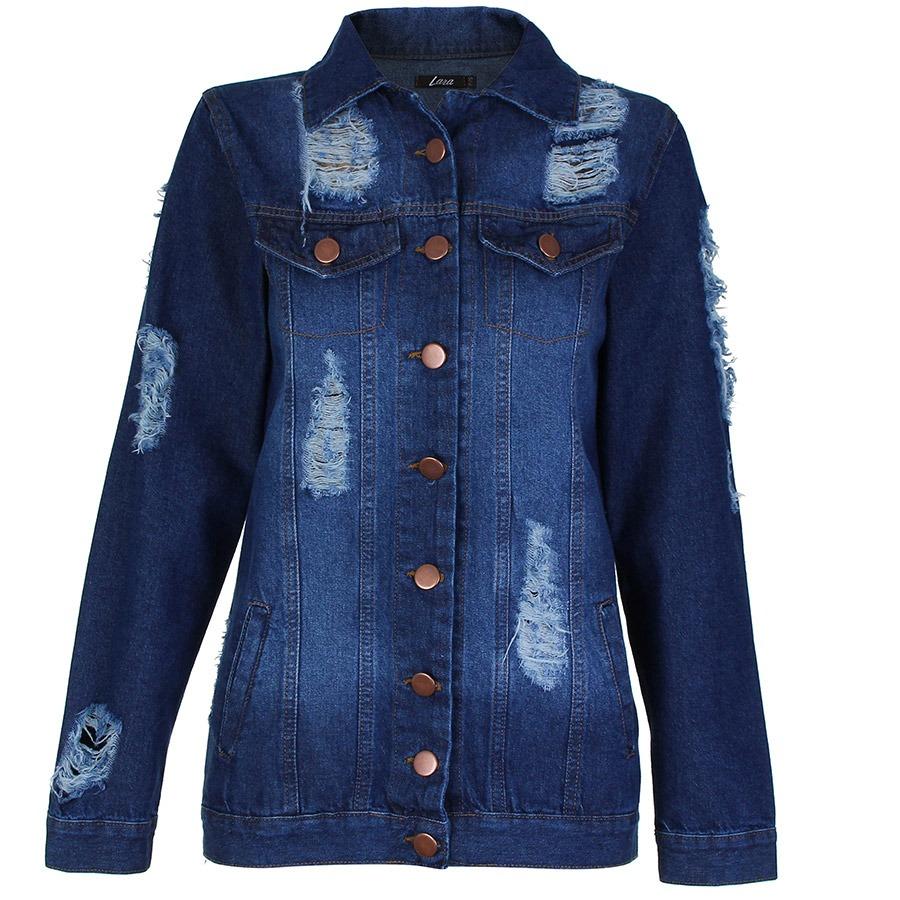 de45536a6 jaqueta jeans feminina lara. Carregando zoom.