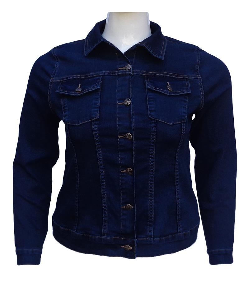 jaqueta jeans feminina - plus size tamanhos g ao gg3. Carregando zoom. cad90f5b7b9b2