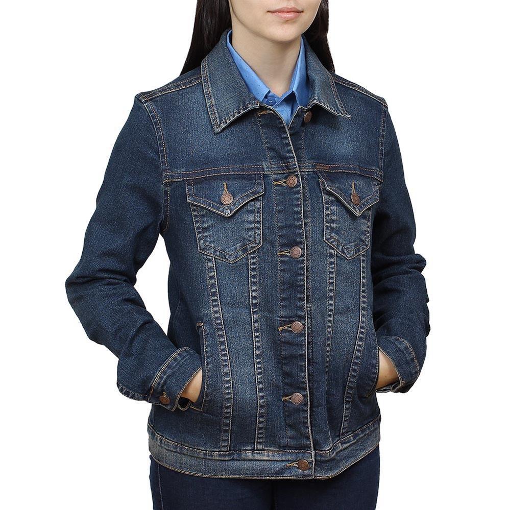 3d6da7825e Jaqueta Jeans Feminina Tassa Gold Azul Escuro 19575 - R$ 241,85 em ...